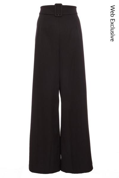 Black Belted Palazzo Trousers